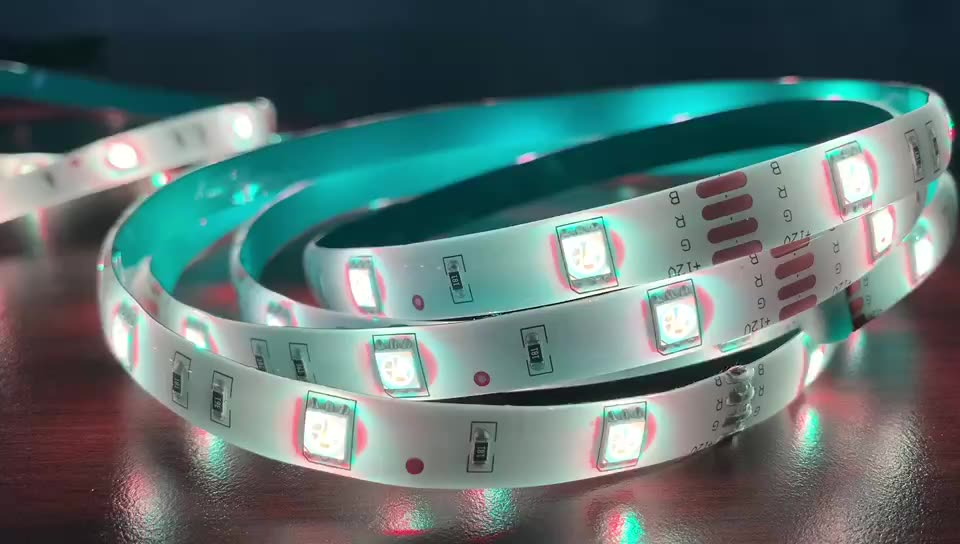 Outdoor waterproof ip65 ultra thin 2700k 12V 24V changeable rgb 5050 smd flexible led strip lamp