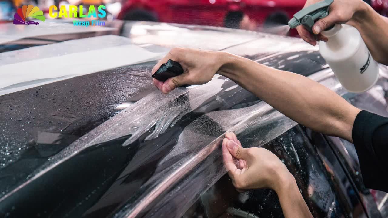 Carlas Clear Car Vinyl Wrap Self-adhesive Transparent PPF Anti-Scratch Self-Healing Car Paint Protection Film