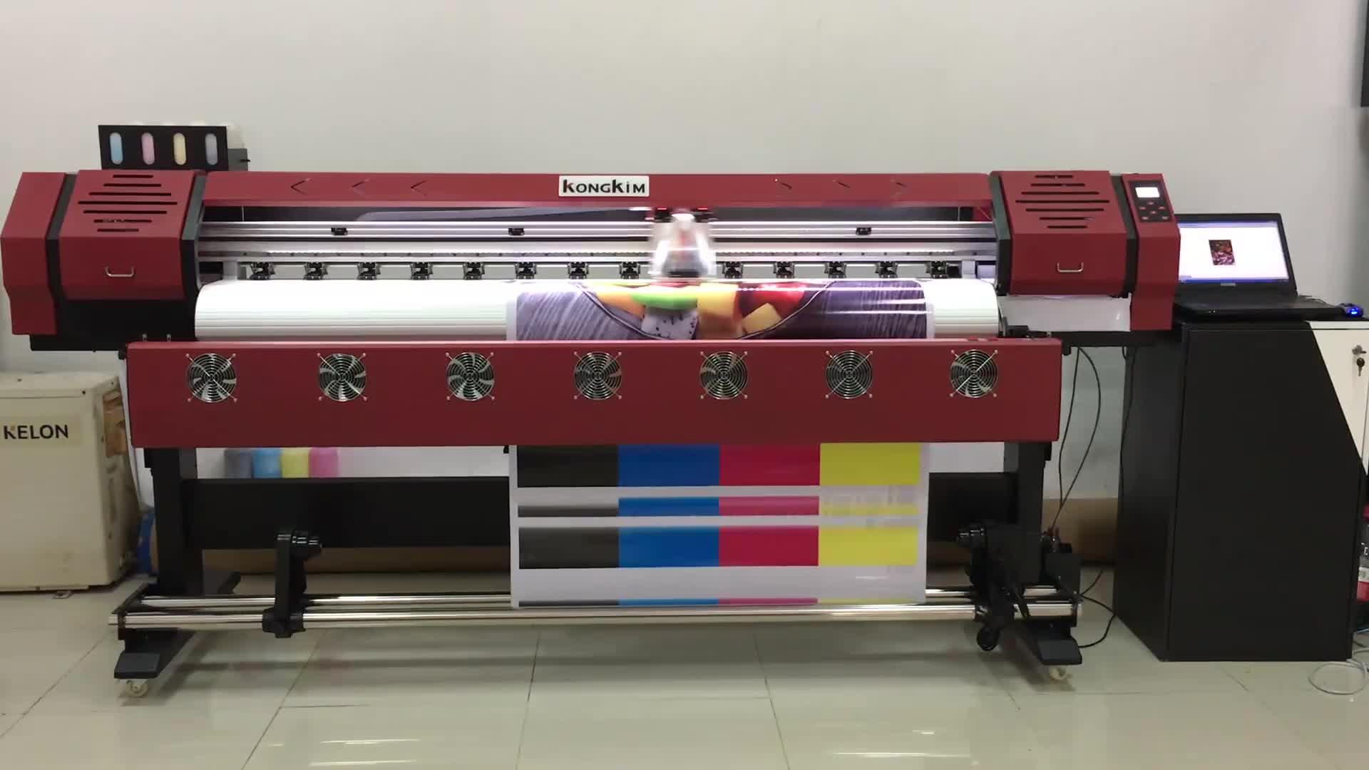 KK-1600 1.8m / 3.2m eco-solvent printer available for outdoor tarpaulin car sticker flex banner