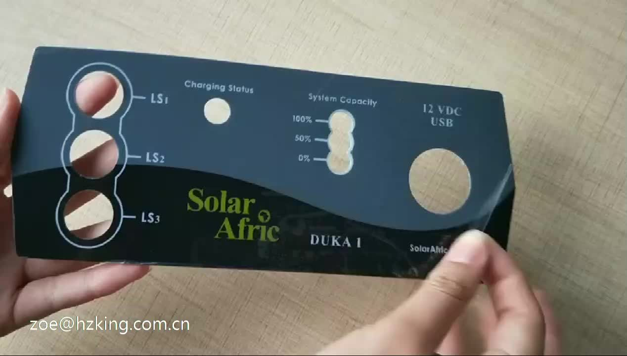 DIY control front panel plastic label lexan or polycarbonate label with die-cutting