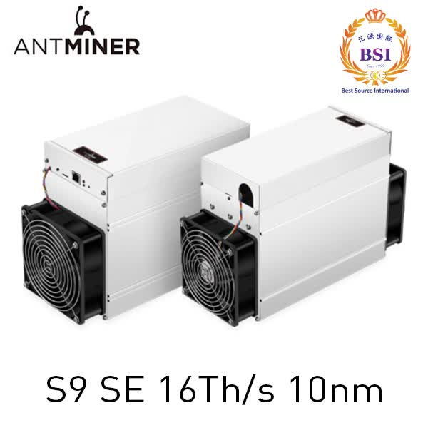 New Bitmain Antminer 10nm Sha-256 btc miner S9 SE 16Th/s  bitcoin miner machine