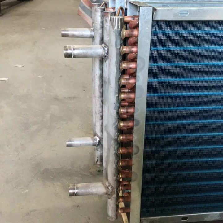 Copper Fin Tube Coil Heat Exchanger for Industrial Dryers