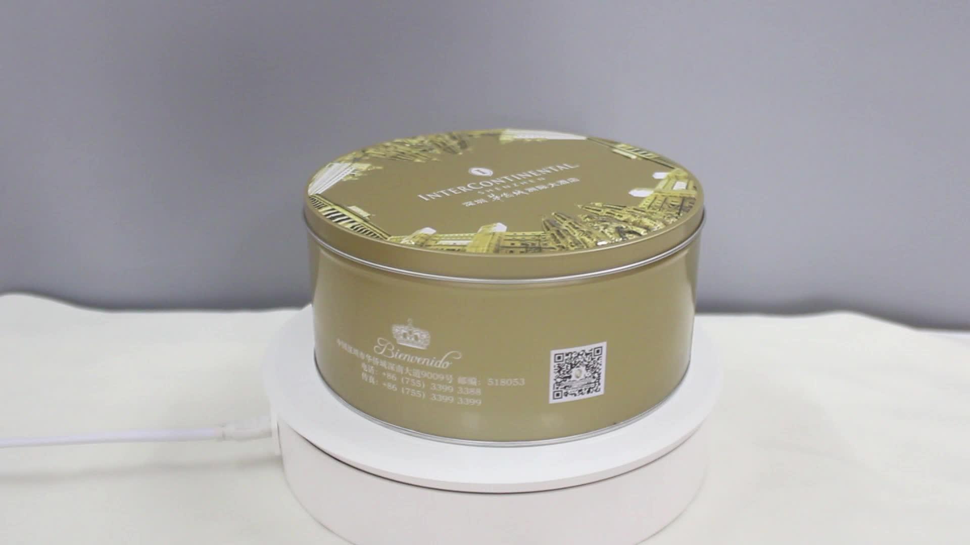 dongguan wholesale round biscuit tin box,popcorn tin box