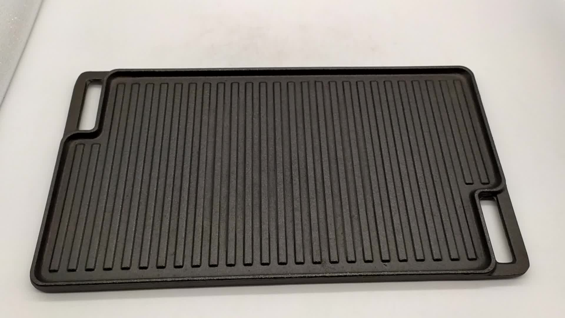 Outdoor cooking Rectangular cast iron griddle plate