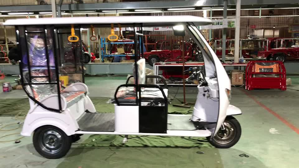 Rickshaw eléctrico adultos triciclo eléctrico de 3 ruedas de coche eléctrico adultos tuk para venta en EE. UU. bajaj Triciclo de tres ruedas