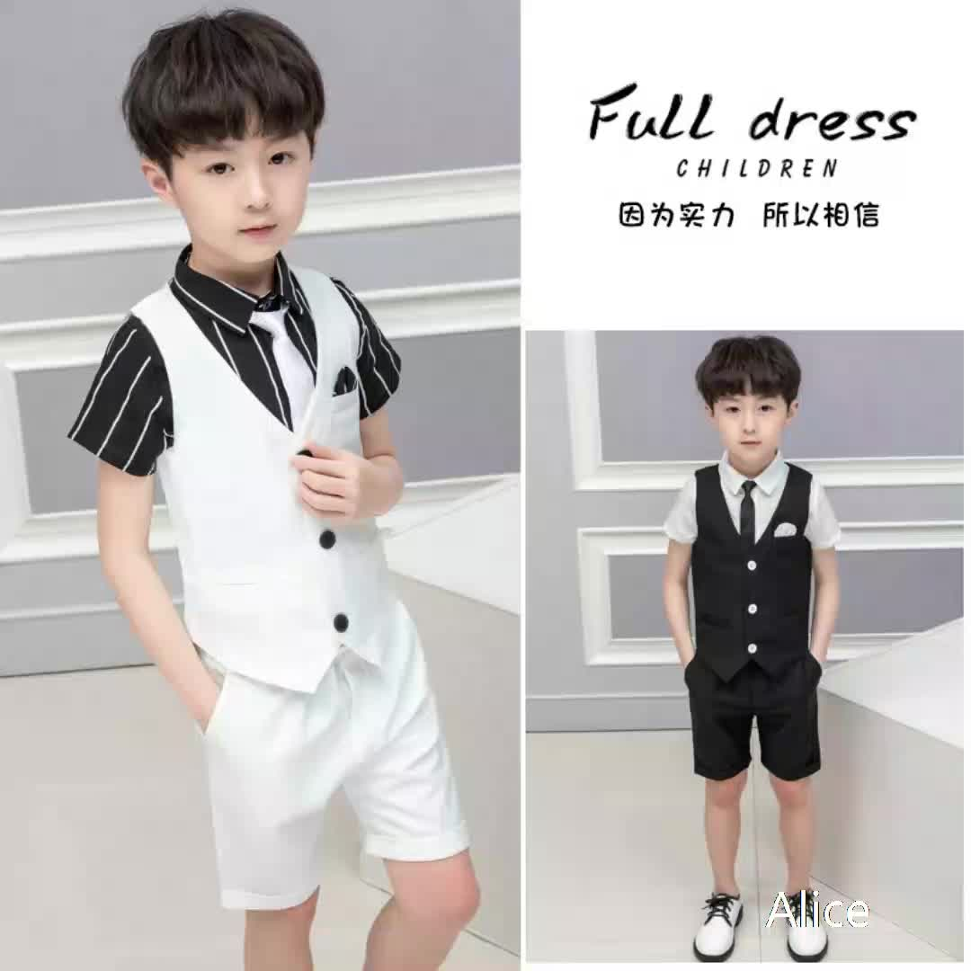 Classic  cheap wholesale well  vest and pants new kid suits wedding business flower boy suits