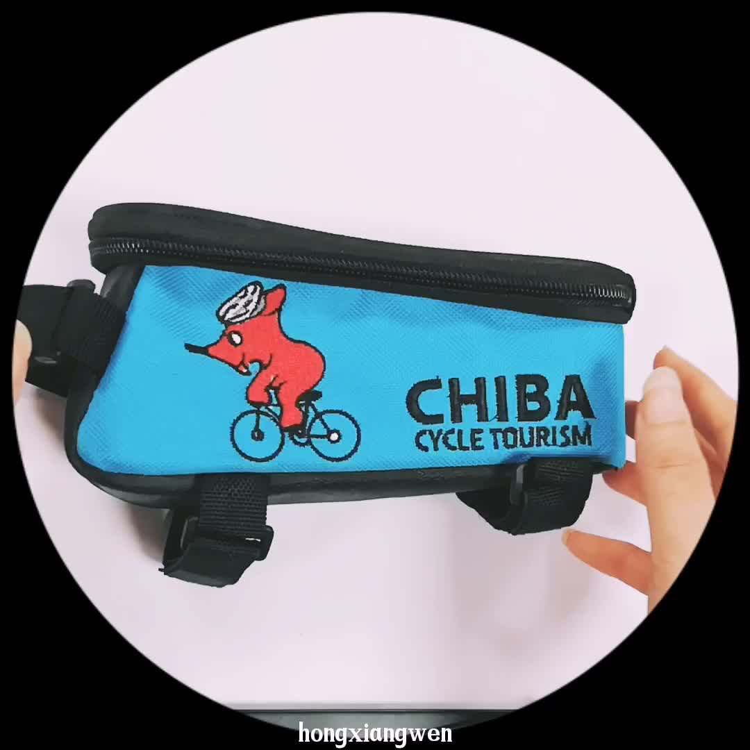 Cycling Bike Bicycle Front Top Tube Frame Pannier Double Bag