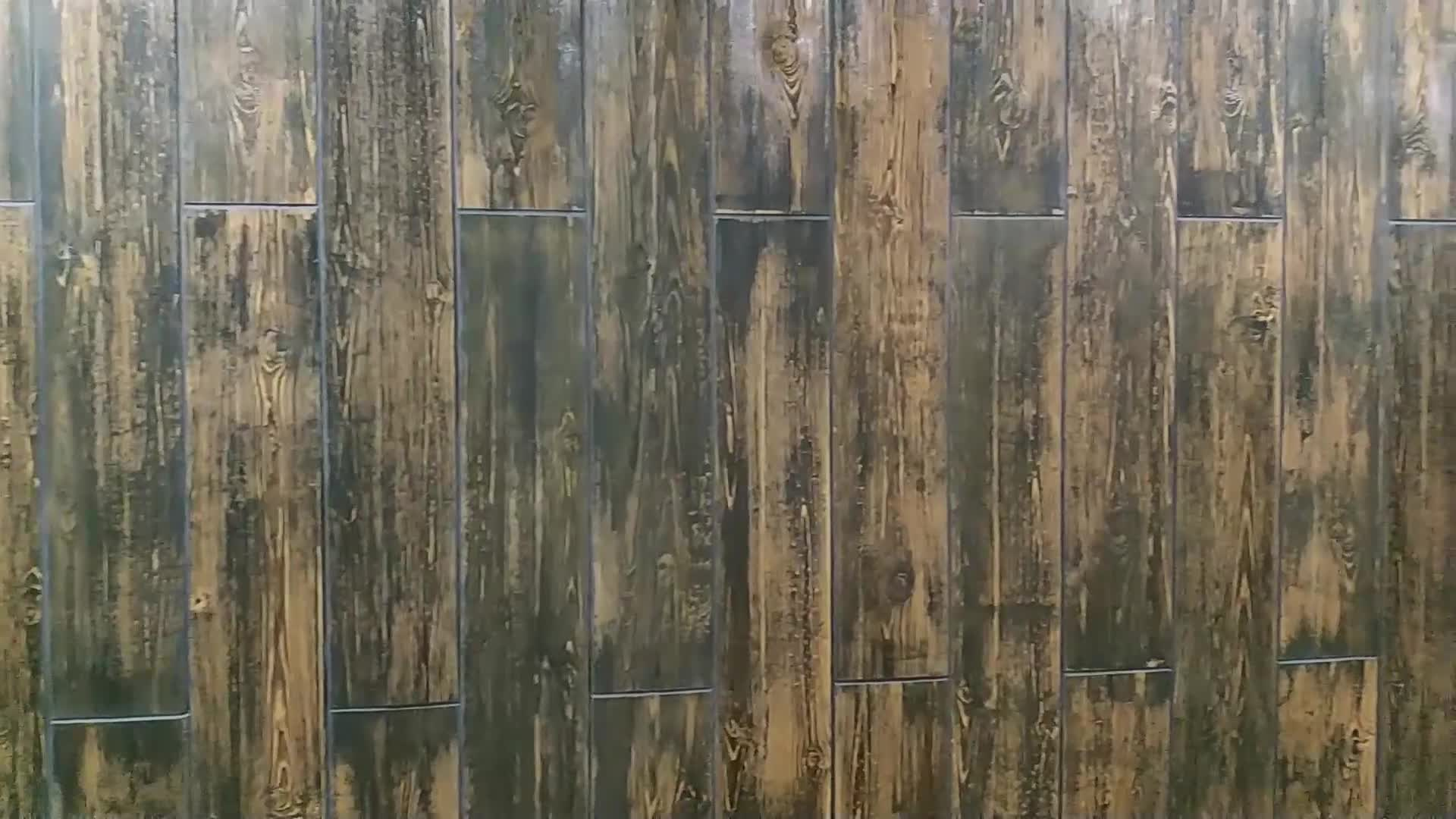 Wood Look Hotel Project Exterior Ceramic Flexible Wall Tile