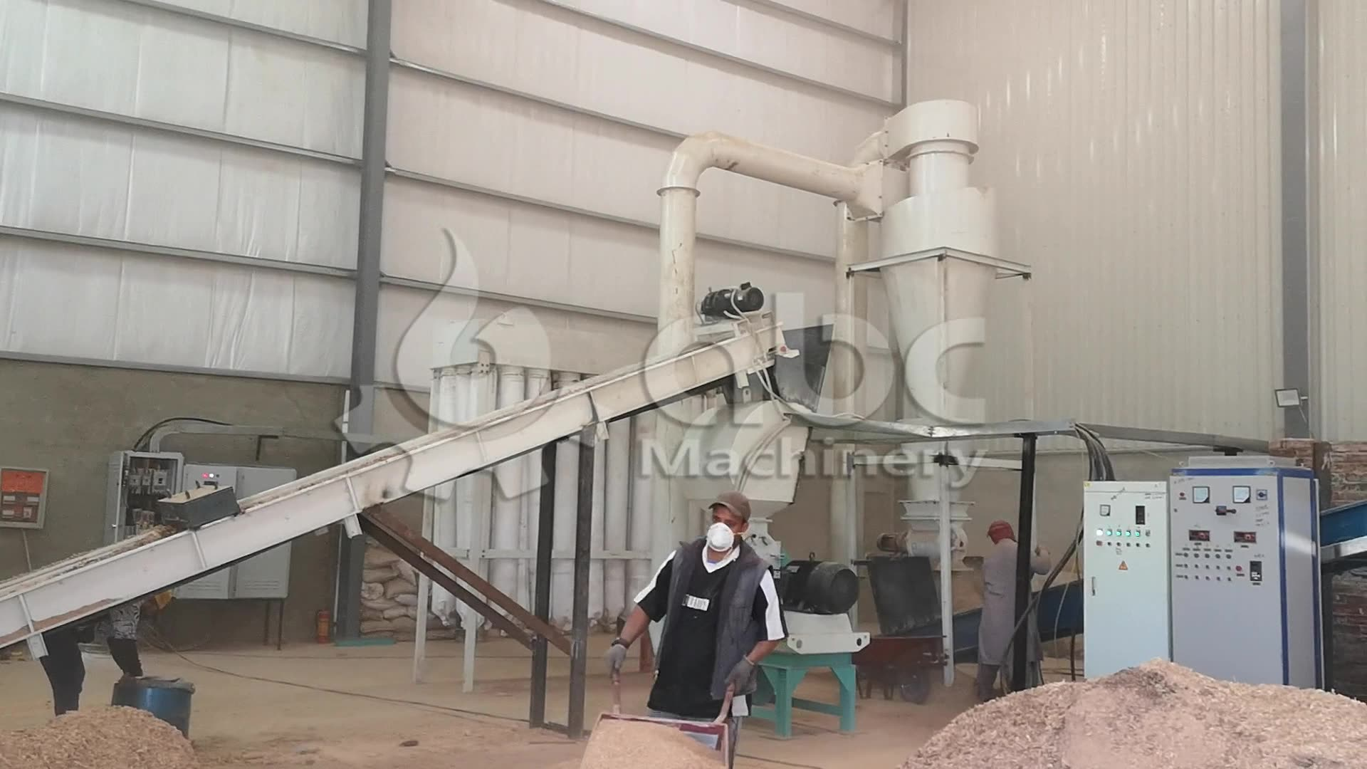 Set up large scale complete wood pellet line in Malaysia with cost-effective wood pellet line price