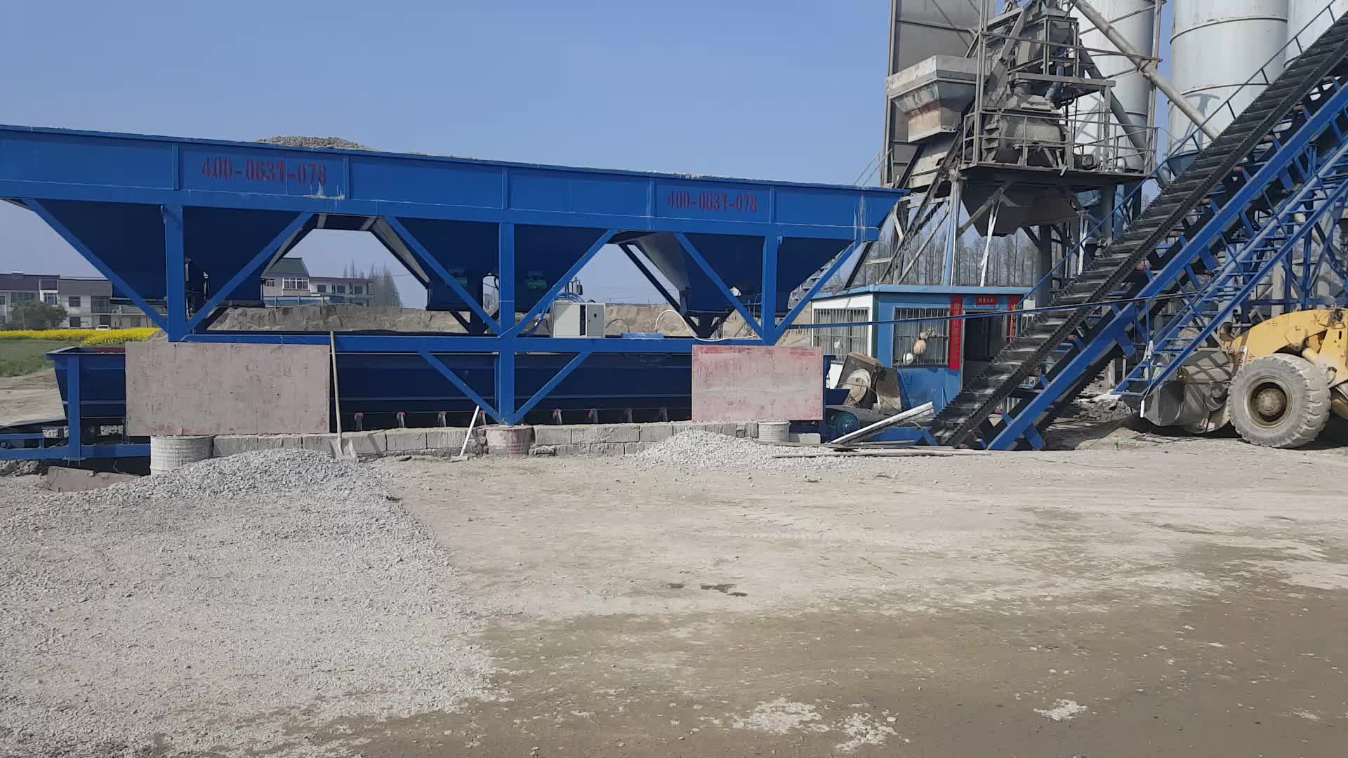 Geavanceerde elektrische klaar gemengde 60m3 betoncentrale
