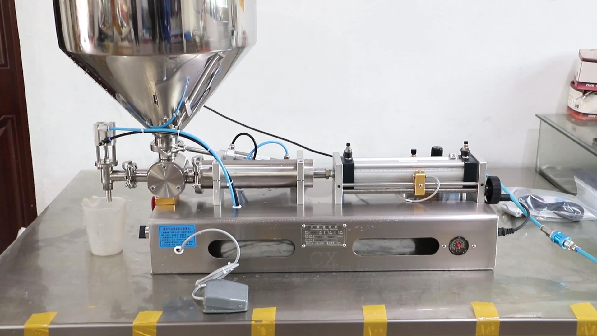 1/2/4 ugelli semi automatico pistone pasta di riempimento macchina di rifornimento crema cosmetica