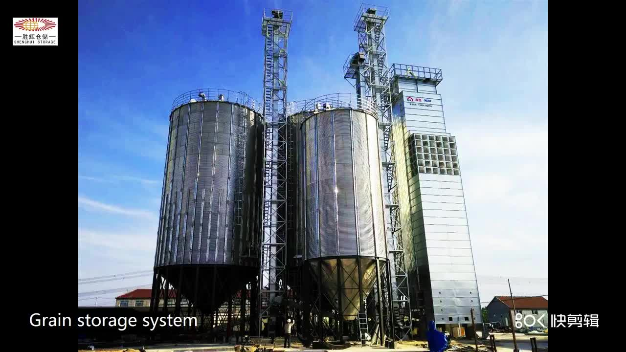 Cheap price galvanized metal types of soybean storage silos for sale
