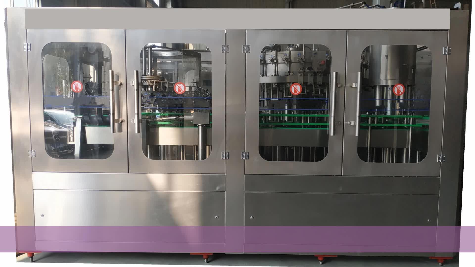 Nuevo diseño automática de llenado de cerveza línea cerveza embotellado de llenado y la máquina de costura