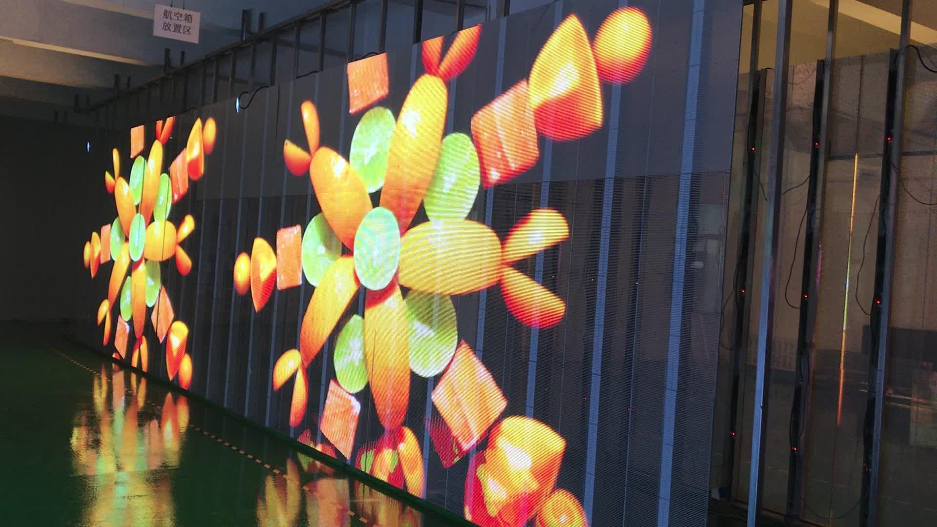 Yeni P3 Ultra hafif vitrin şeffaf LED Video paneli duvar