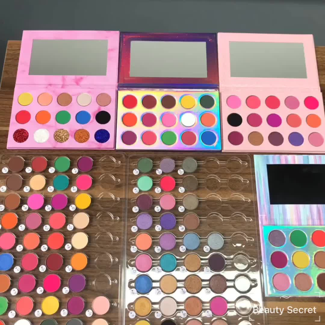 empty makeup wholesale cosmetic eyeshadow palettes