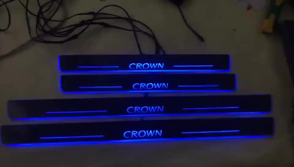 LED Moving Door Scuff Plates LED Car Door Sill Plate Light