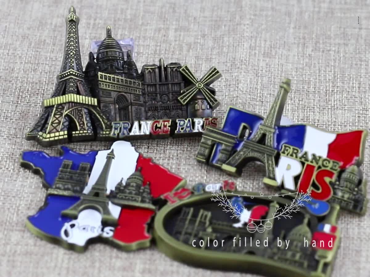 Professionale personalizzato di alta-end metallo tourist souvenir magnete del frigorifero