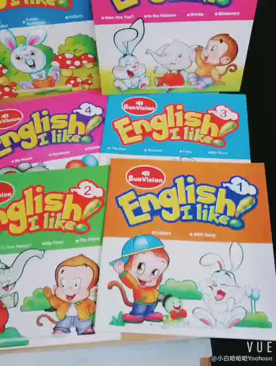 English audio  Books Set with talking pen for Kids