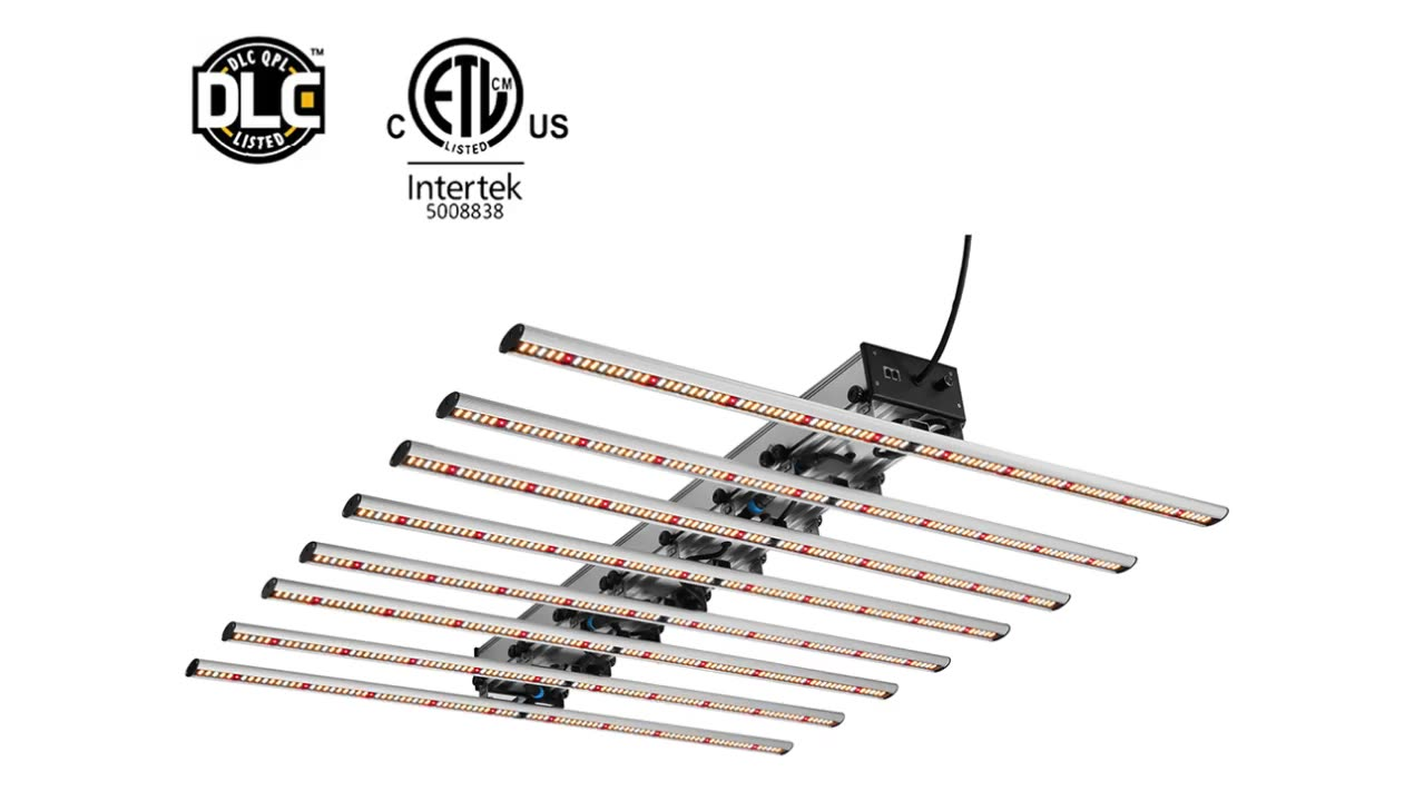 DLC ETL Lised Spydr Bar Type High PPF 320W 640W 800W 1000W Indoor  Medical  Plant LED Grow Light