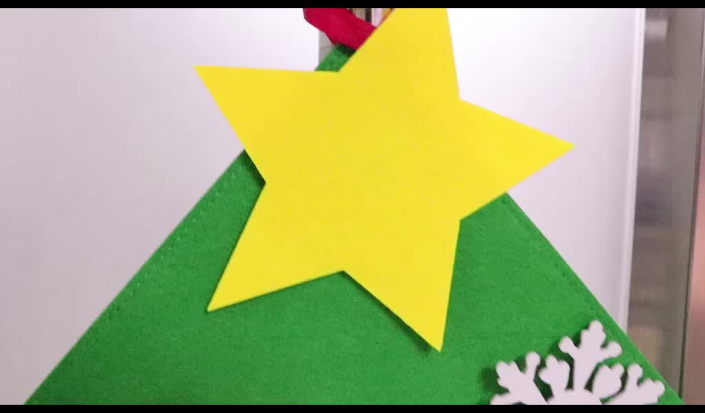Promo fantastic decorated diy felt christmas tree