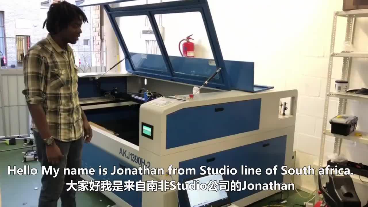 AccTek cnc 1390 6090 tubo de co2 280w de metal máquina de corte a laser para o metal e não-metal