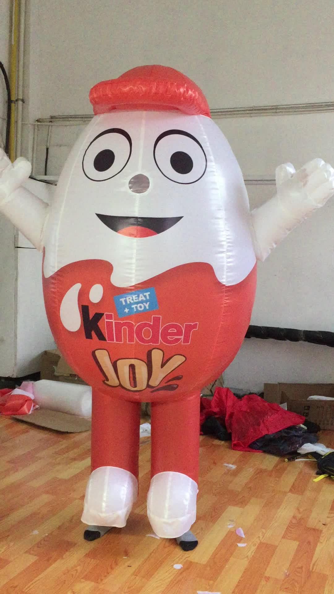 2m Inflatable เครื่องแต่งกายสัตว์ที่กำหนดเองเดินเครื่องแต่งกายไข่รุ่น