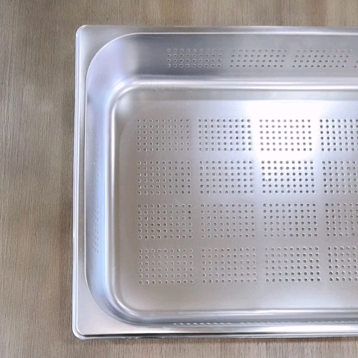 Liantong Factory Full Size American/European Style Stainless Steel 201/304 Food Container Hotel Buffet Serving Gastronorm GN Pan