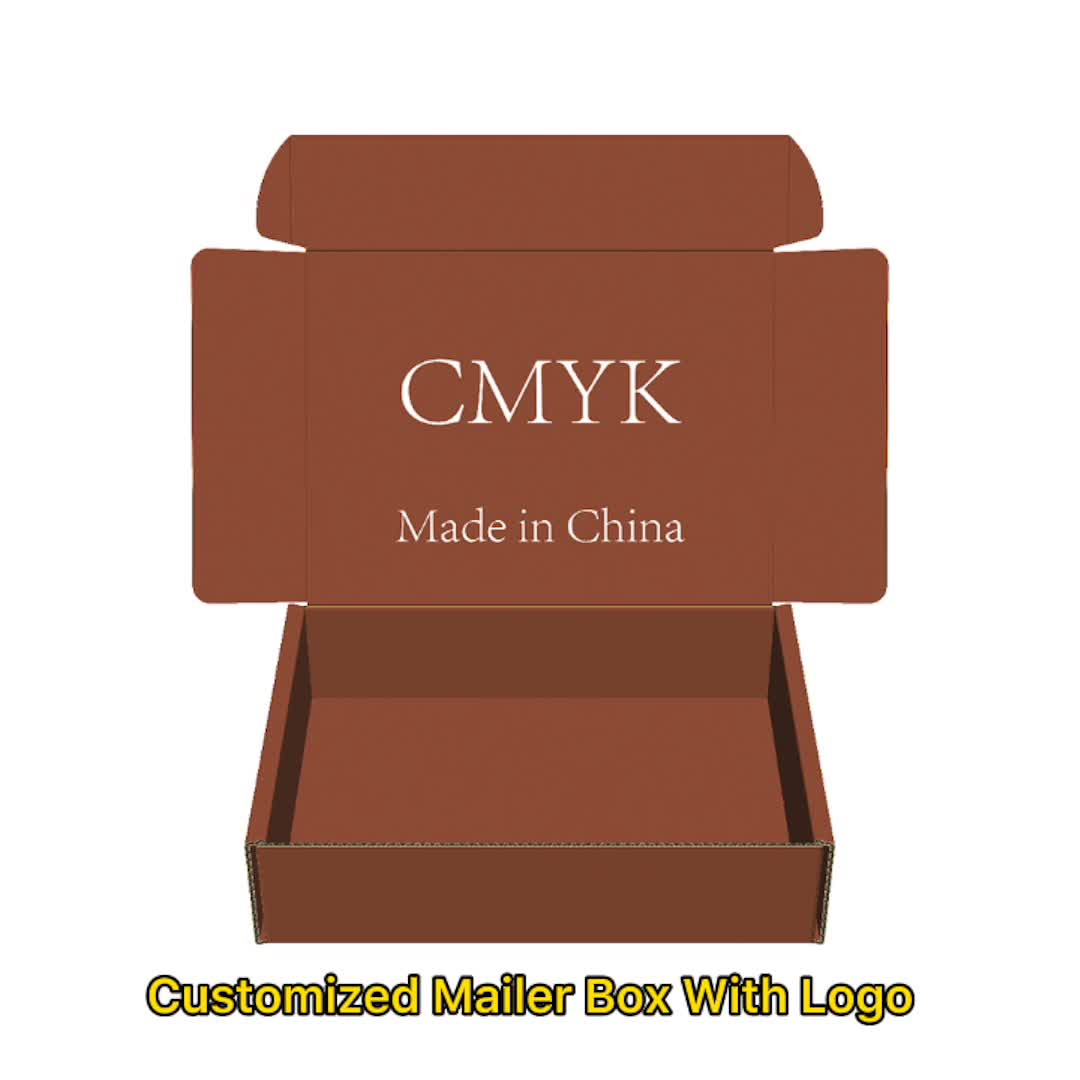 Customized Printed Corrugated Colored Mailer Boxes With Customized Logo