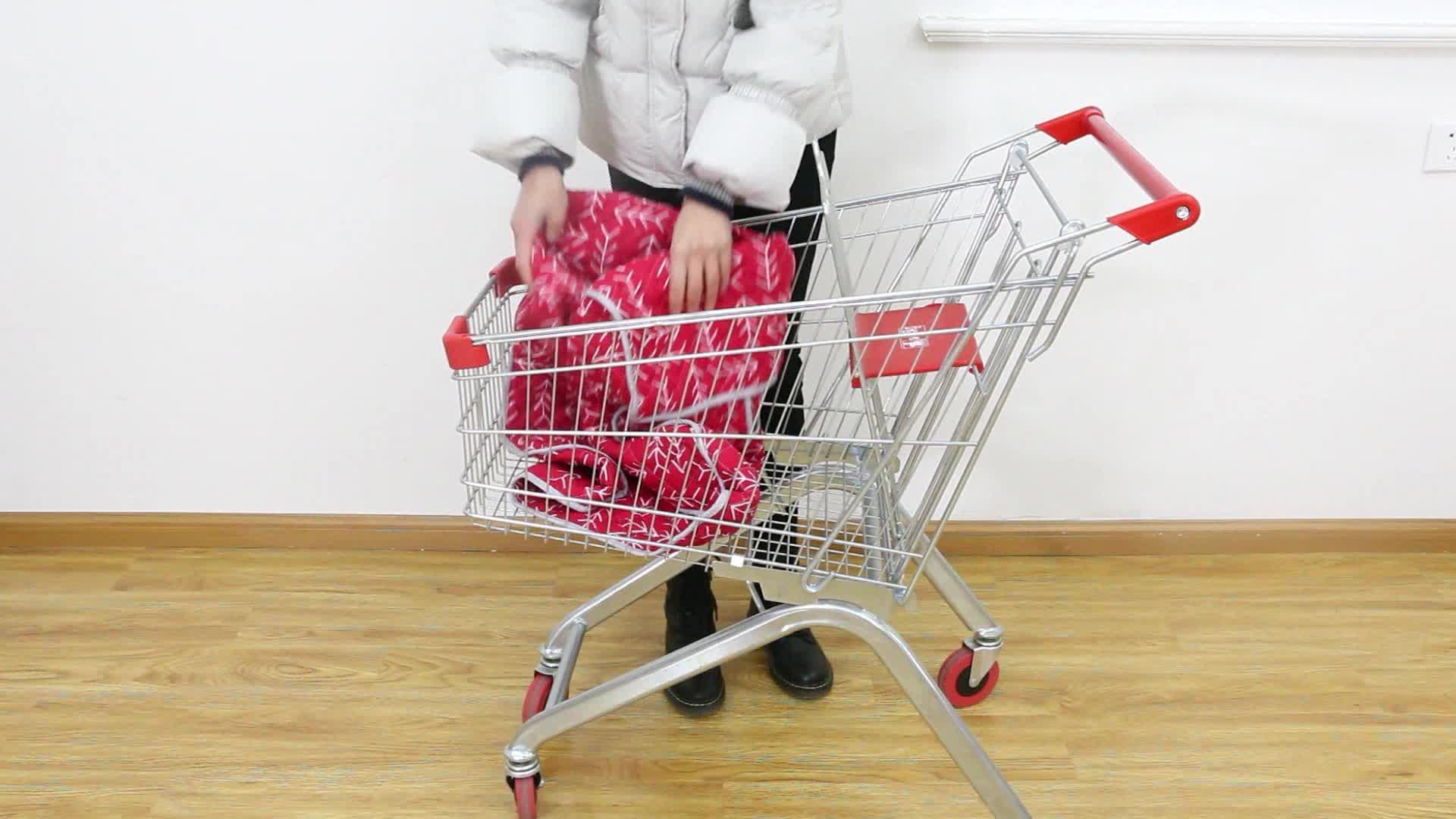 Di alta qualità 100% cotone colorato bambino shoppingtrolley carrello della copertura per alta sedia