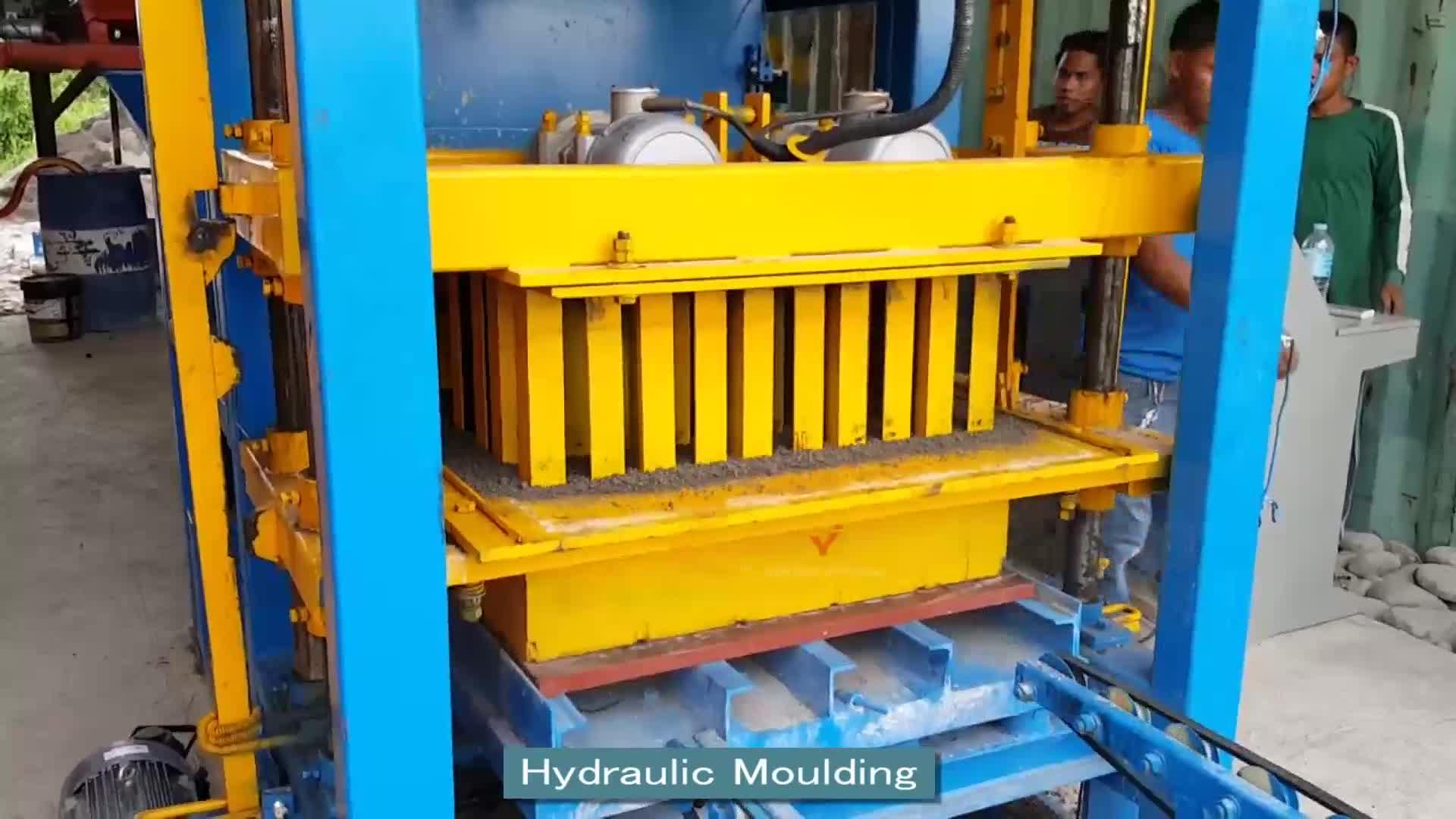 マレーシアのサプライヤーナイジェリア中空コンクリートブロックqtj4-25簡単ブロックは、 マシンの価格