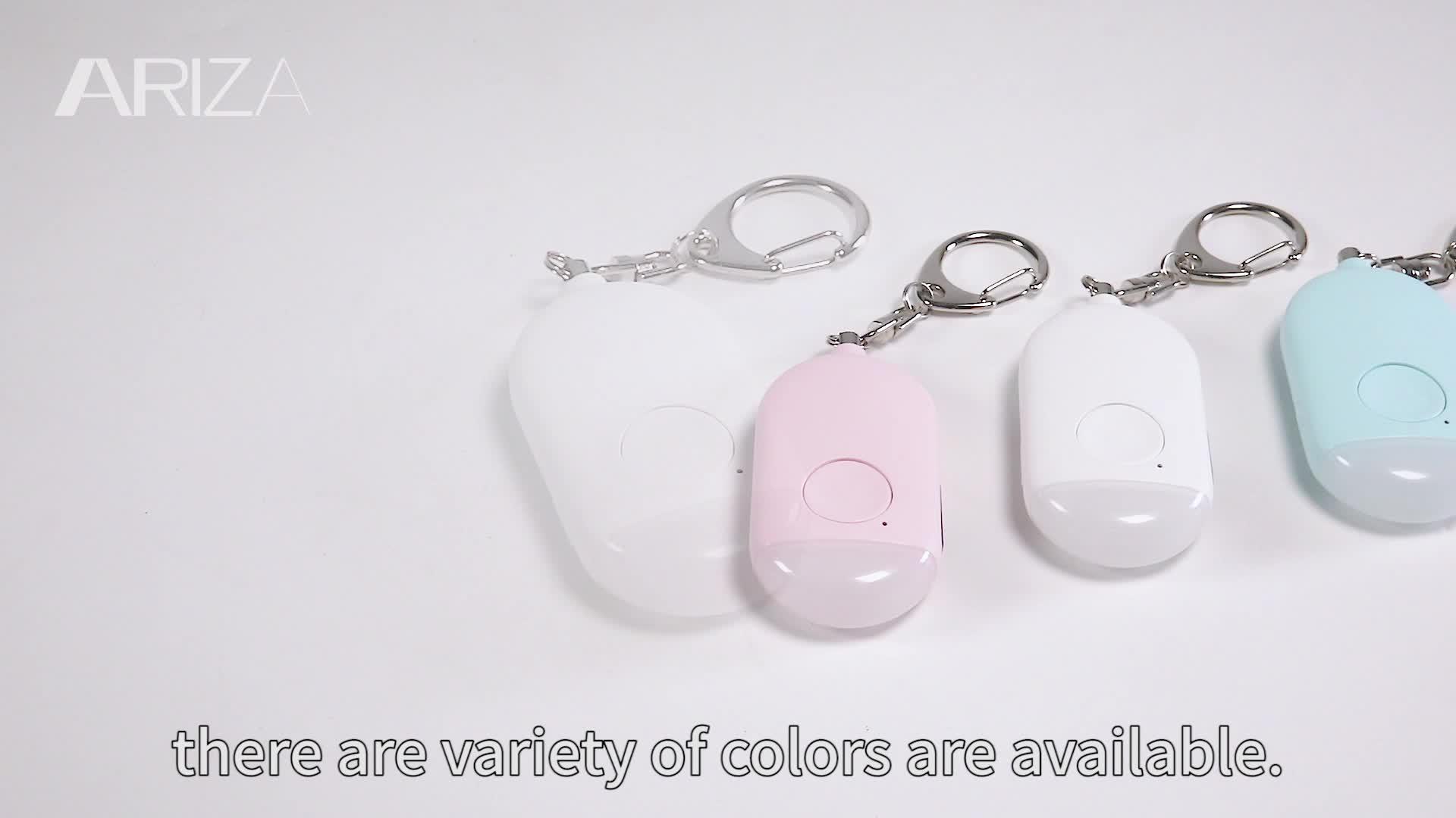 עצמית נשק חירום קשישים אישי מעורר צבעוני led פנס 125db סאונד keychain מעורר