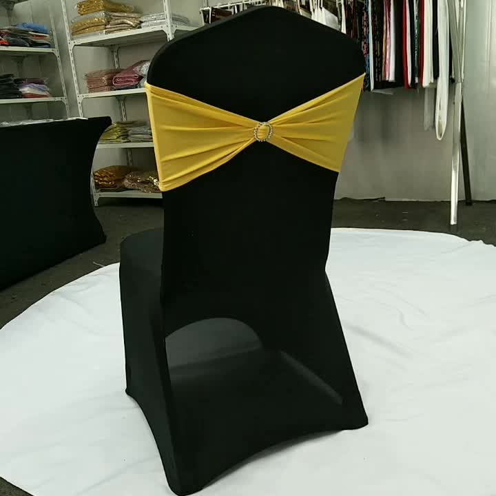 wholesale cheap stretch spandex chair bow chair sashes for wedding banquet