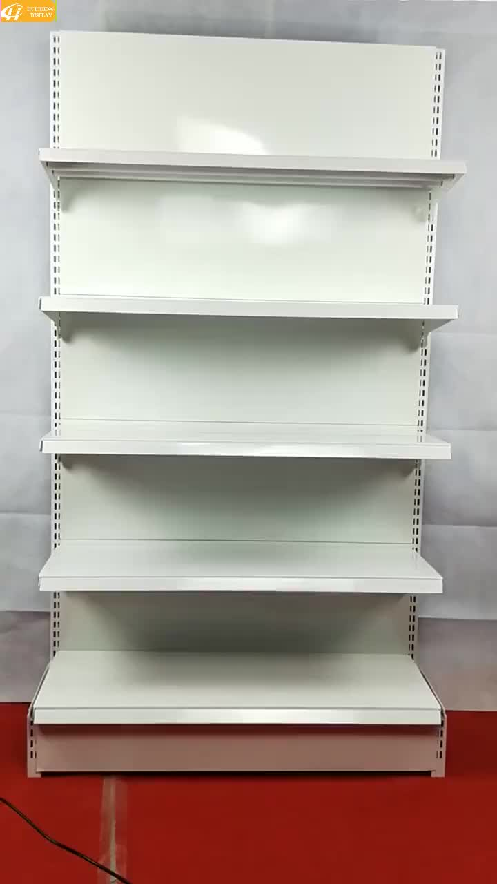 Perforated Double sided supermarket retail department store display rack