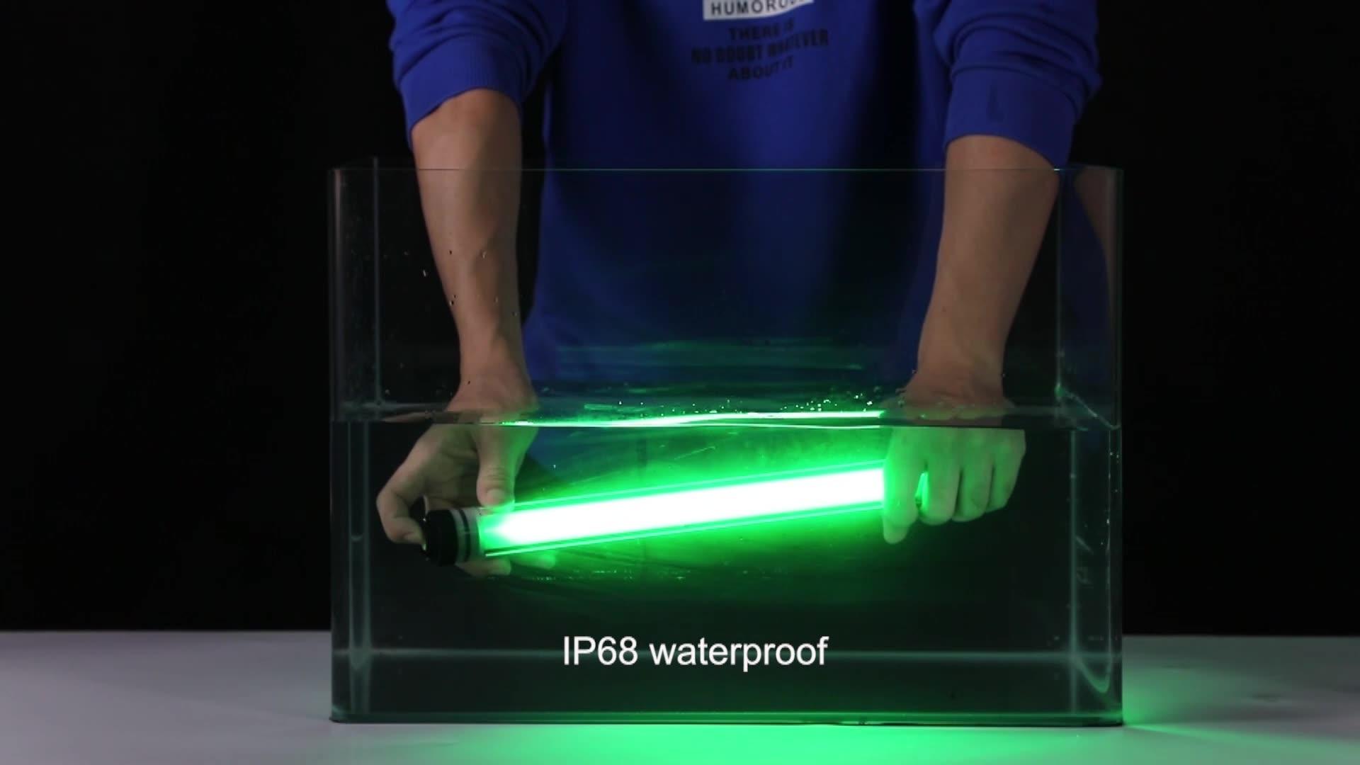 חדש ידית נייד נטענת עמיד למים שלט רחוק LED RGB צינור צילום אור שרביט
