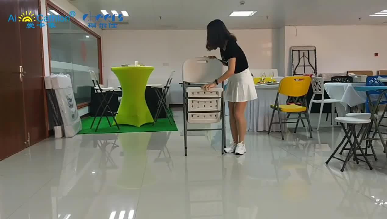 Eventos jardim Cadeira De Plástico Dobrável Portátil Vida Barato Ao Ar Livre Cadeiras Dobráveis de Plástico Branco