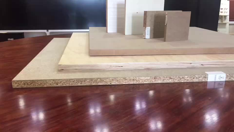 Embossed Synchronized MDF Board Double Side Synchronized Texture MDF
