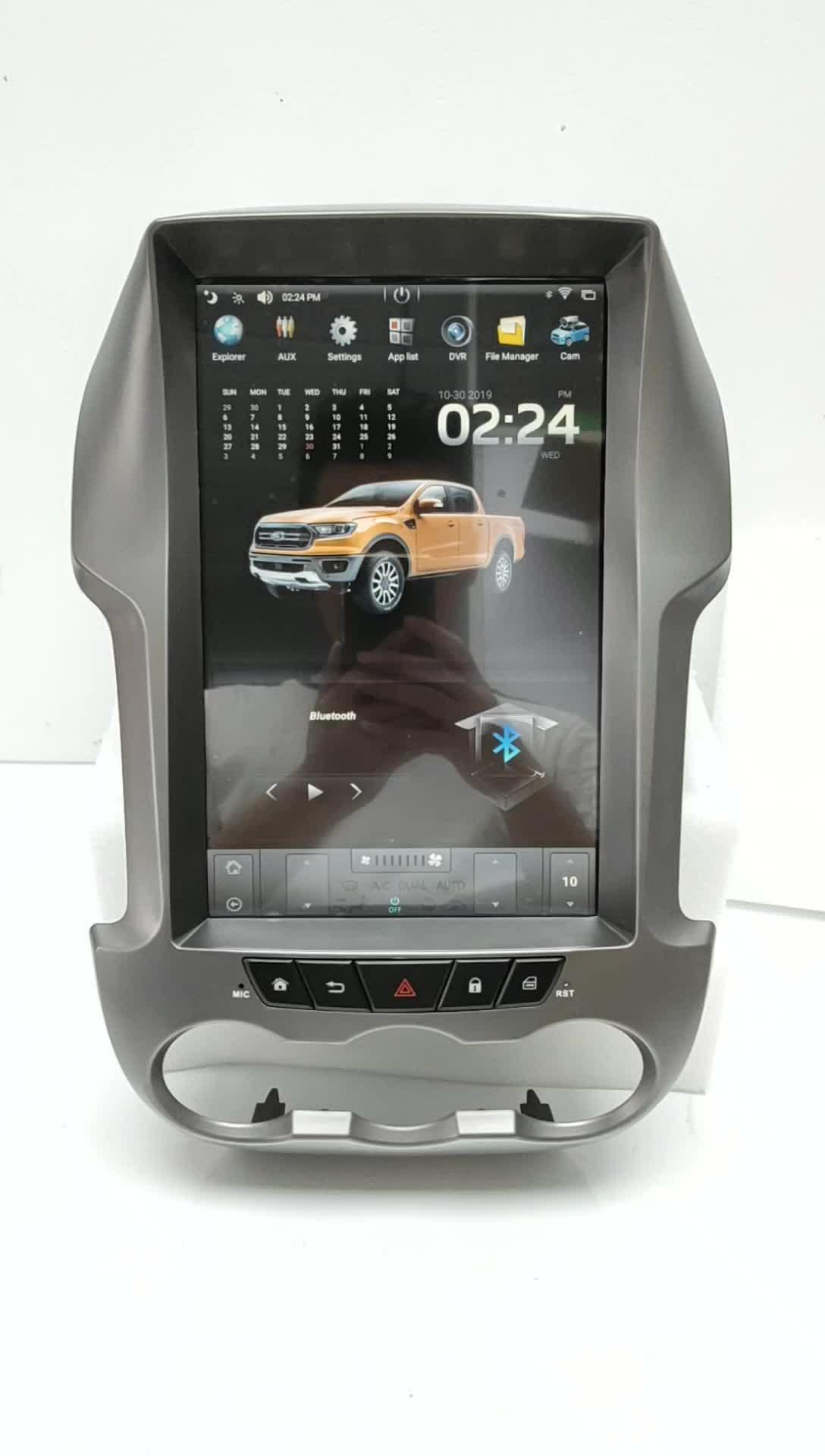 12,1 дюймовый полный сенсорный экран Тесла стиль Android 7,1 Встроенный GPS Поддержка MP5 медиаплеер автомобильный DVD-плеер для FORD RANGER