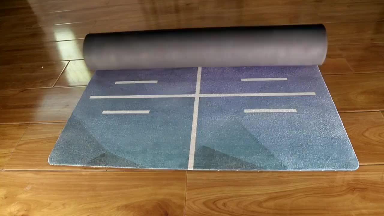 Hot Nbr Fornitore Della Fabbrica 4 millimetri di Lattice di Gomma Naturale di Iuta Bianco Galleggiante Ad Alta Densità Private Label Modello Stuoia di Yoga