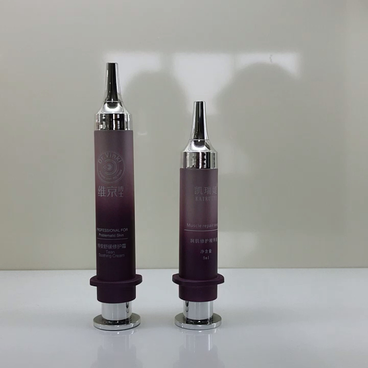 kozmetik için yeni 5ml / 10ml havasız şırınga