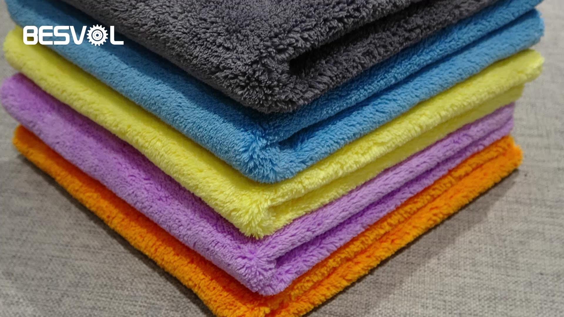 Coral Fleece Super Absorberende Zachte Auto Schoonmaakdoekje Handdoek 500GSM Edgeless Pluche Microfiber Wasstraat Polijsten Drogen Handdoek