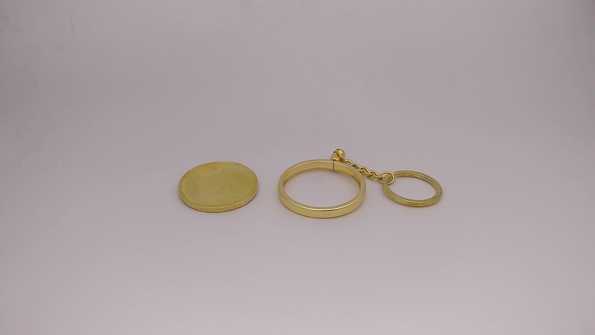 Custom metal coin bezel bitcoin coin holder keychain