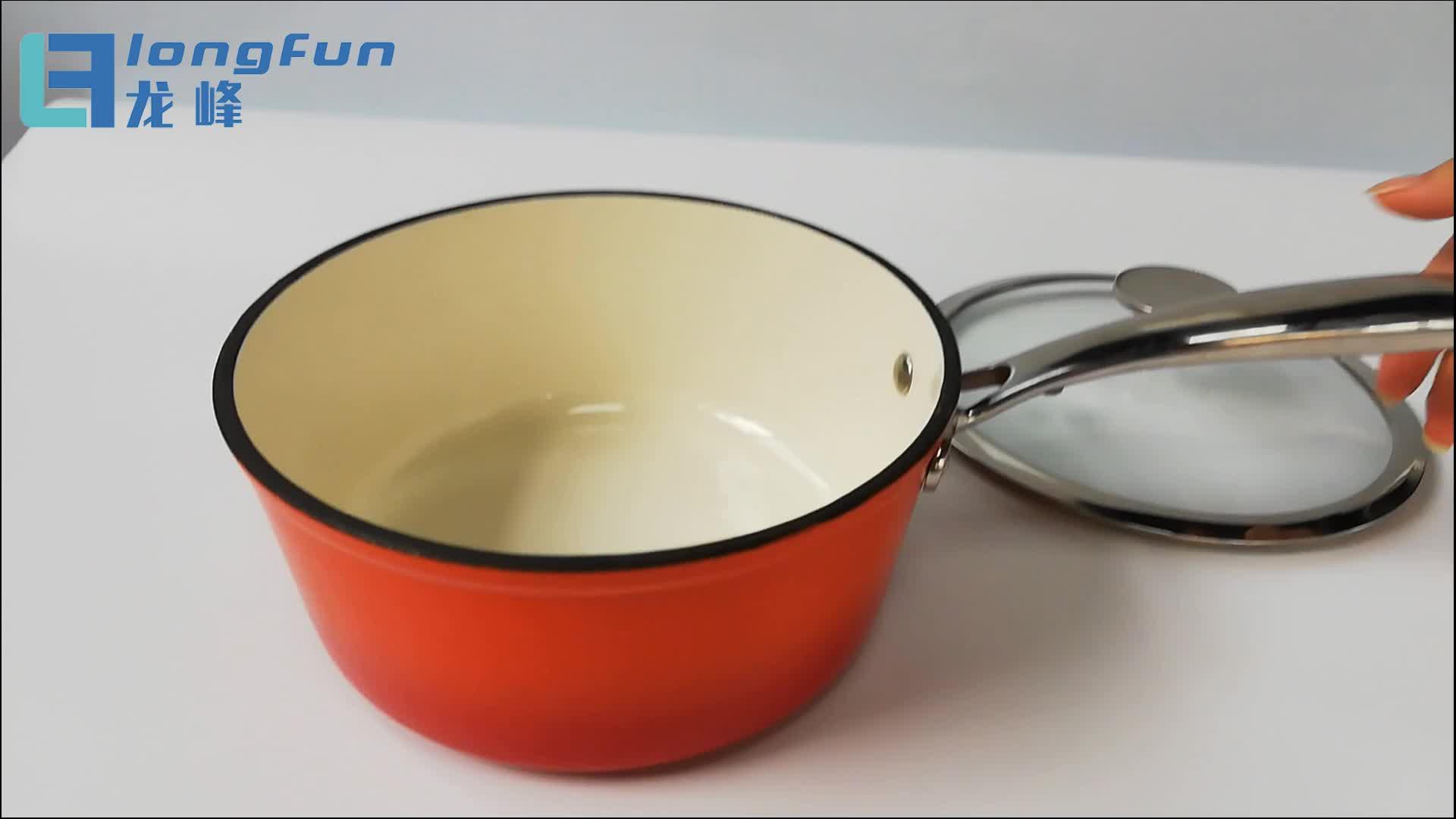 ホット販売エナメル鋳鉄ダッチオーブン