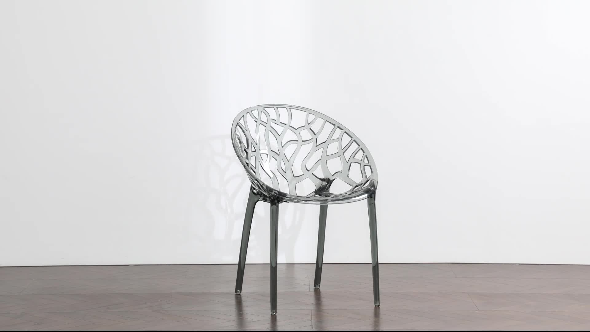 Wholesale Modern Design Clear Plastic Armchair