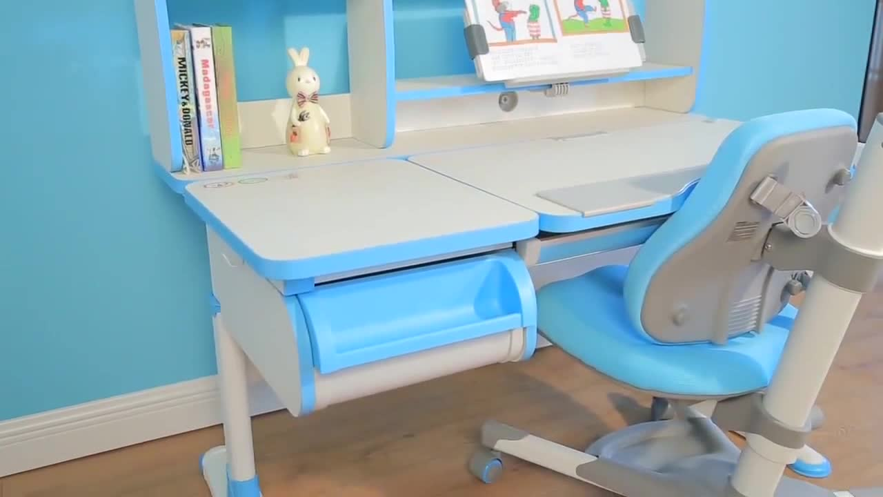 Rubber Wooden Child Desk Used As Study Desk Chair