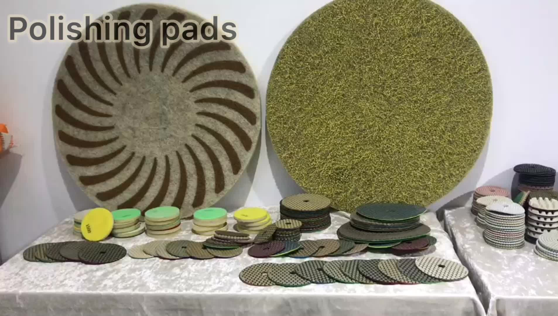 "17"" diamond sponge polishing pad for concrete or stone"