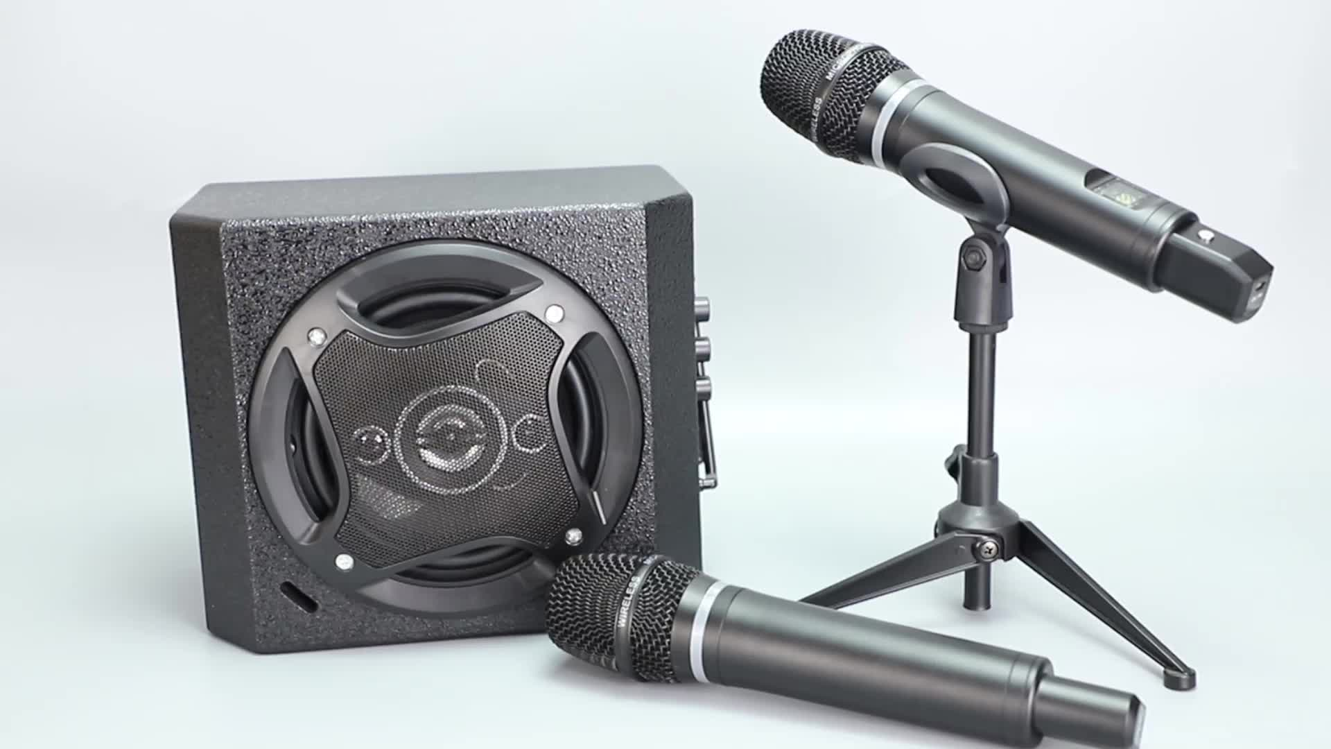 Active karaoke  music speaker with microphone