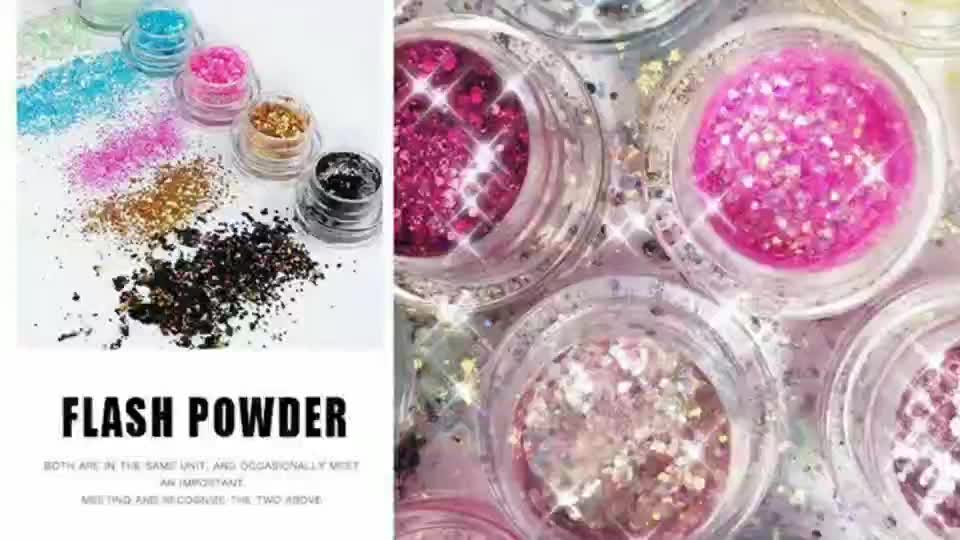 Pudaier 34 Multi Color Make Up Glitter Eyeshadow Manicure DIY Sequin