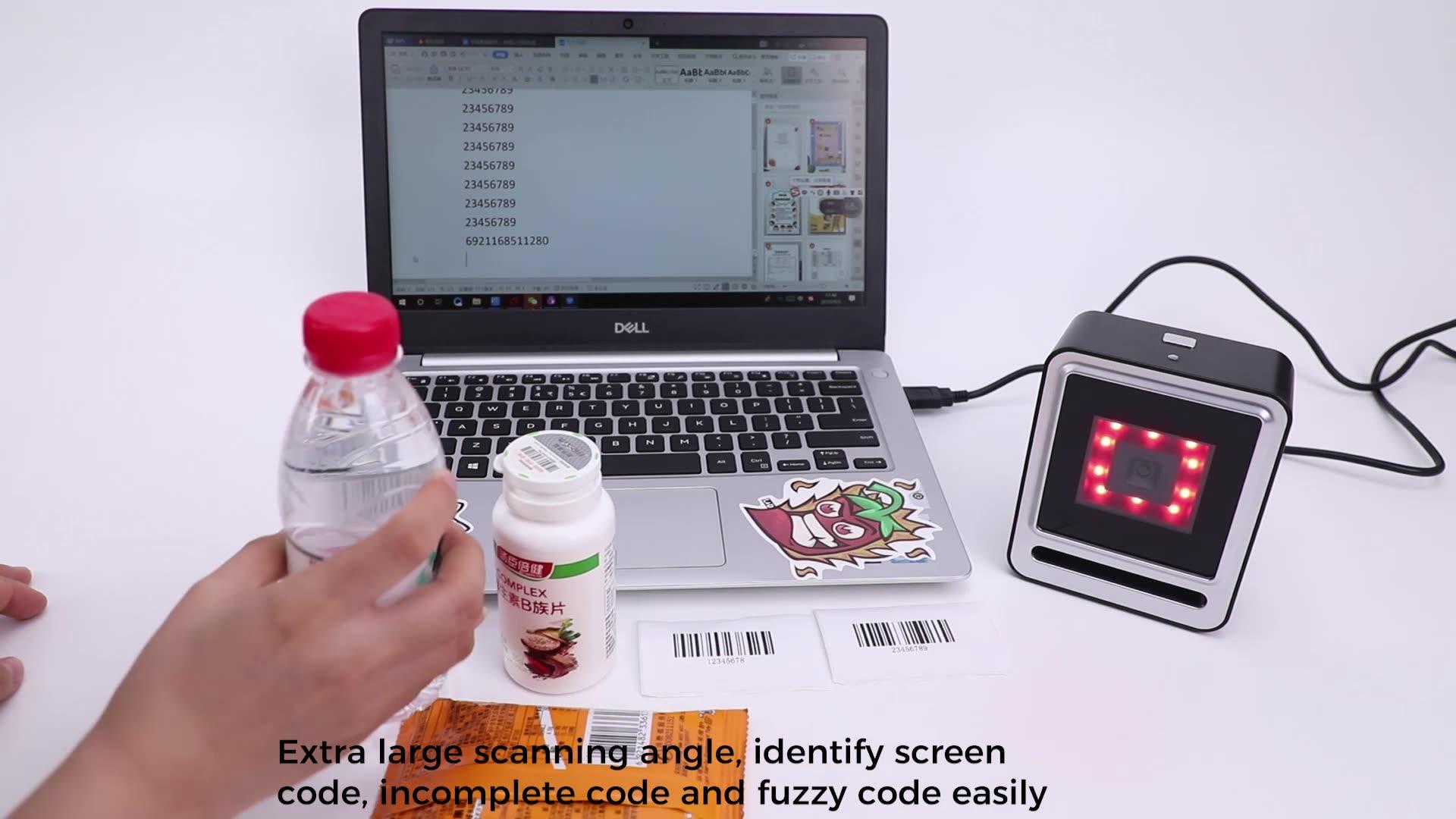 Scanner de código qr 2020 novo design scanner de código de barras desktop fabricante chinês oem odm
