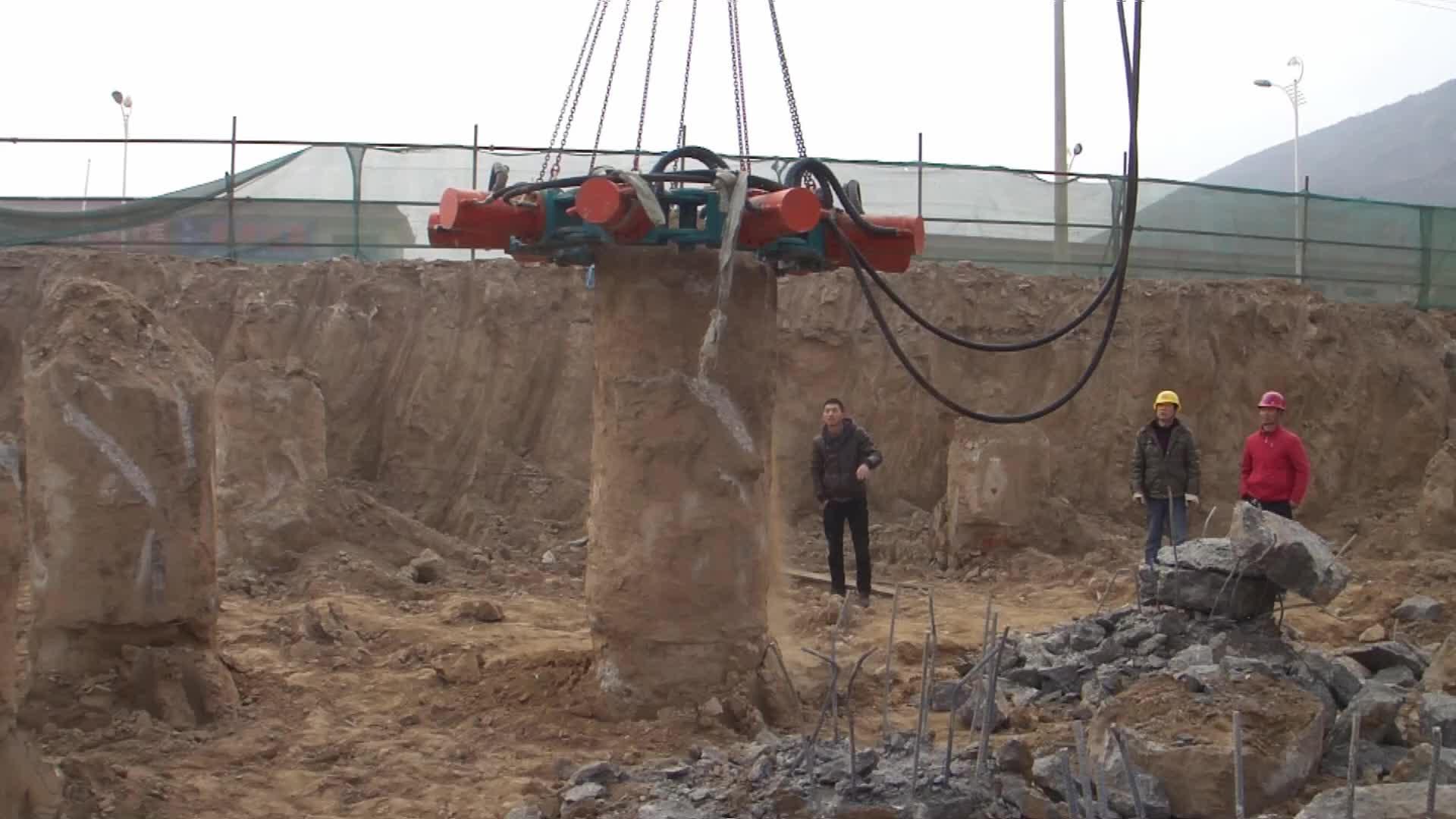 Crane parts concrete block breaker/pile cutter