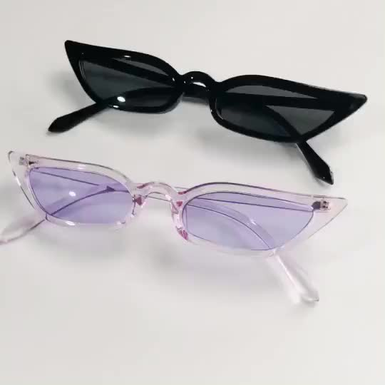 Fashion chic new women sunglasses Europe and the United States trend cats eye cool personality small size glasses